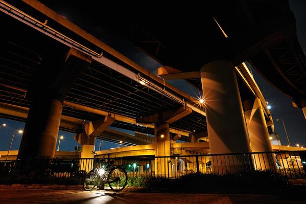 橋の下の風景