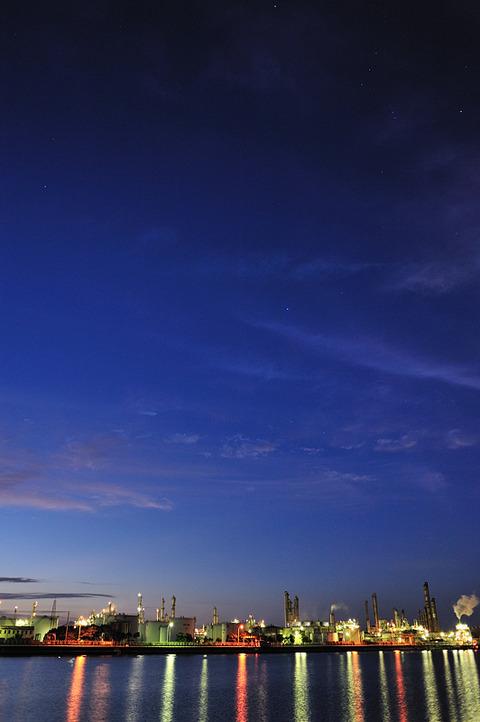 夜空のもとで(四日市工業地帯 9 )