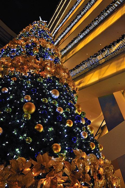 christmas illumination(ヒルトンプラザ イースト)