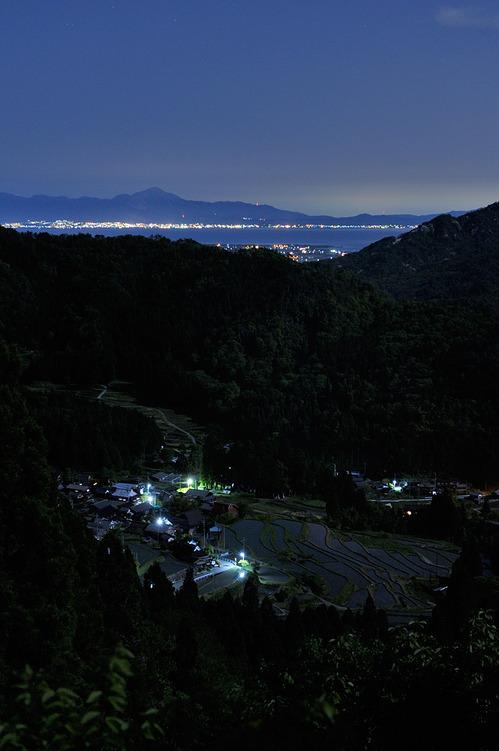 棚田から見る夜景