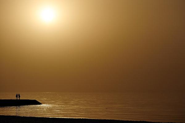 黄砂が舞う日