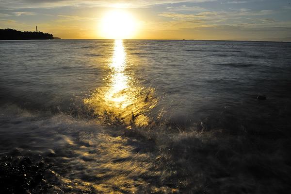 黄金の夕陽