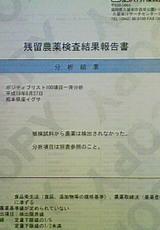 残留農薬検査結果報告書(アップ)