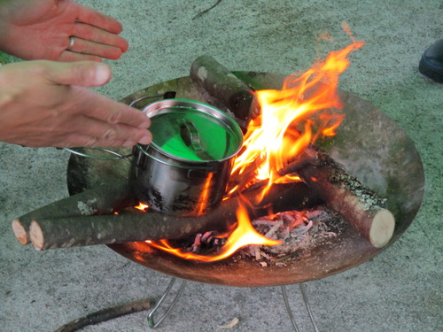 ブッシュクラフト体験第1回目 焚火のやり方 (17)