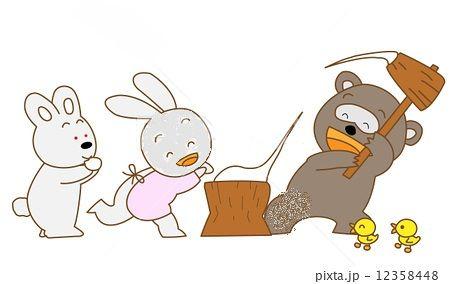 餅つき・ウサギ・くま