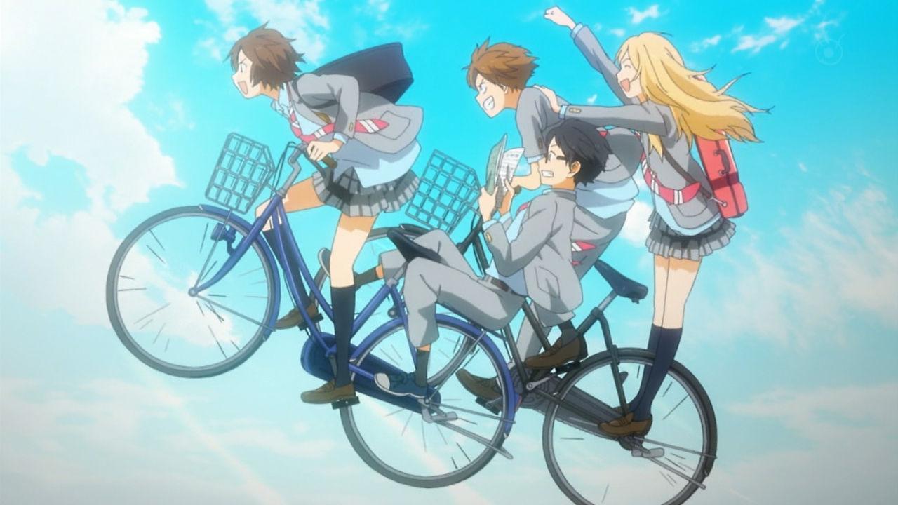 躍動感あふれる自転車。