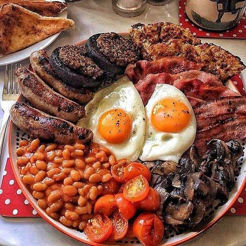 アメリカ人の一般的な朝食ww