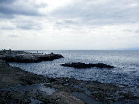 江ノ島 海 岩