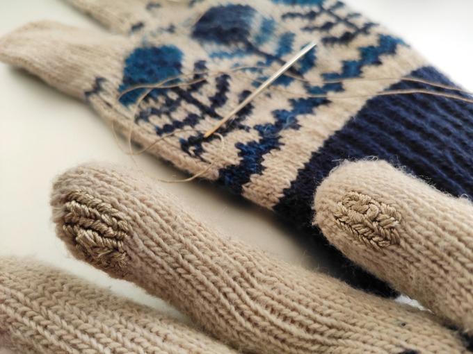導電糸 スマホ対応 手袋 裁縫