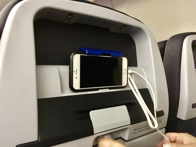 ユナイテッド航空機内モニター