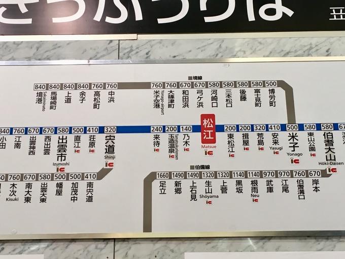 島根県 路線図 ICカード