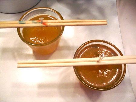 天ぷら油廃油キャンドルづくり