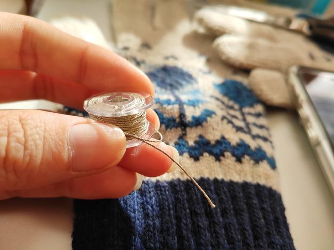 導電糸 スマホ対応手袋 DIY 手作り