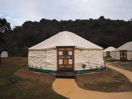 直島つつじ荘 モンゴル式テント パオ