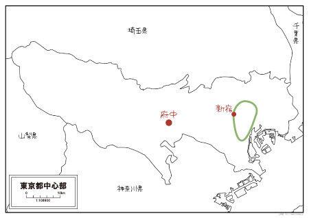 東京都 府中の地図