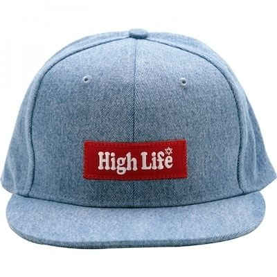HighLifeBoxLogoDenimSnapbackCap1-min