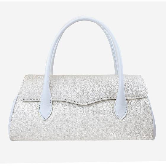 【WEB限定】 ハンドバッグ はんなり(白)