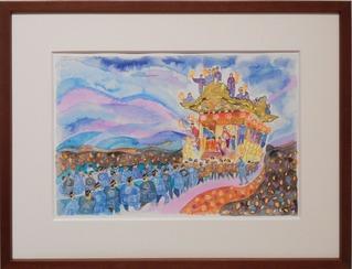 今週の香本博30−2021.8.30-9.4夜祭の記憶銘仙帯のように