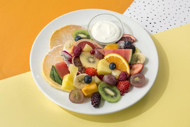 18種類のフルーツパンケーキ