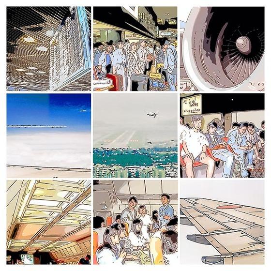 _1988香港イラストコラージュ空港new03