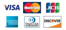 クレジットカードも使えます