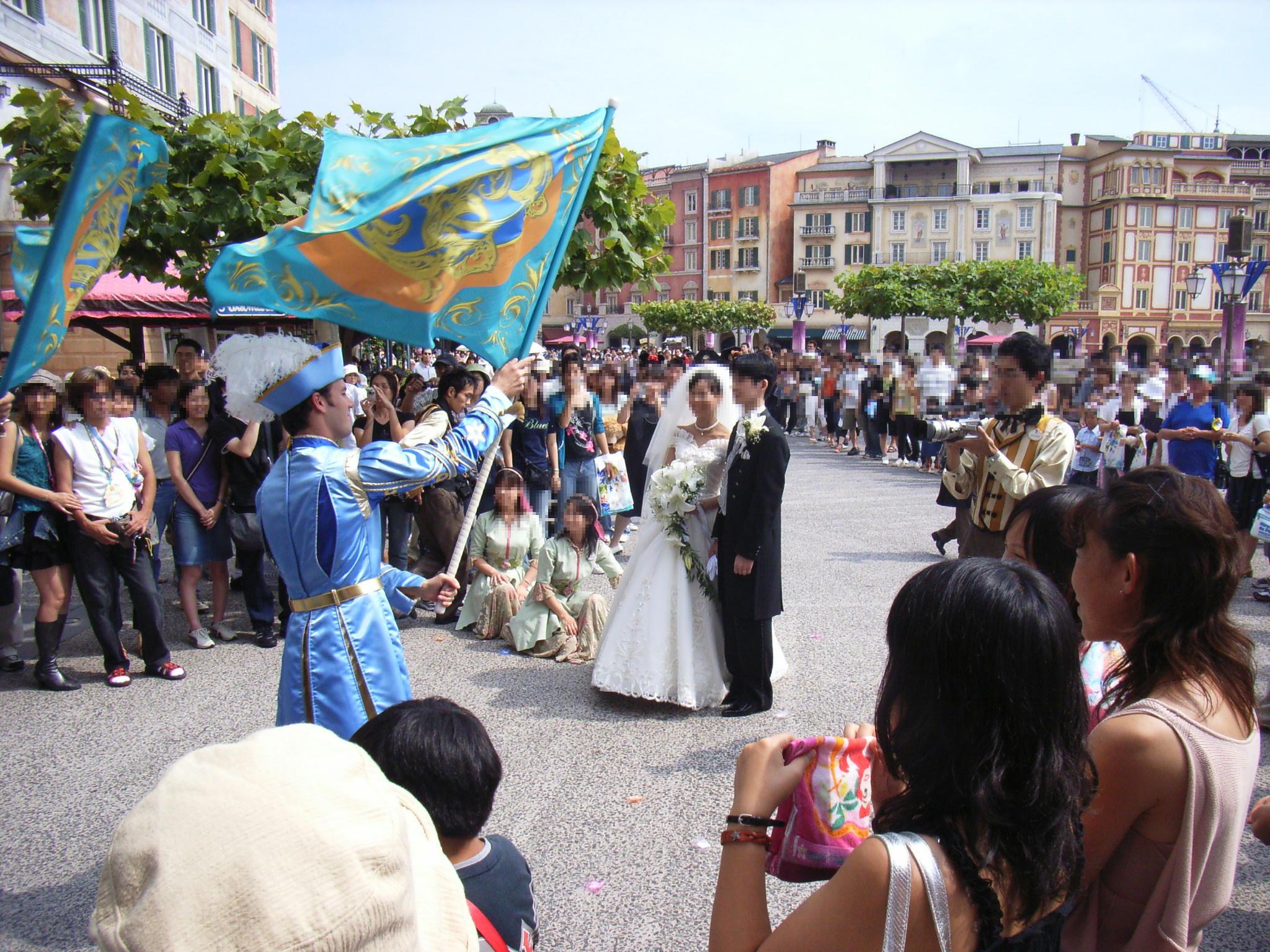 ディズニーシーのゴンドラ結婚式 (^。^)