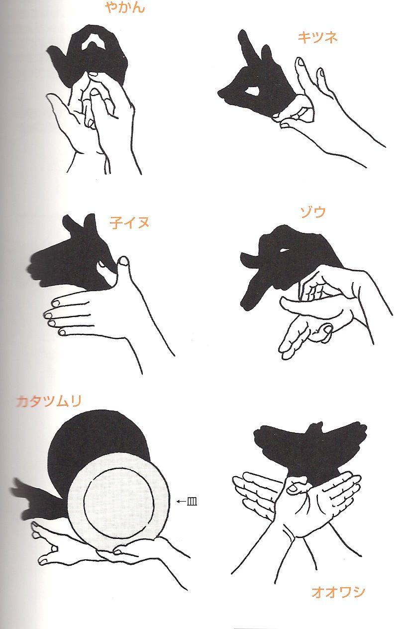 手の影絵 : 教師の暮らしとアイディア手帳