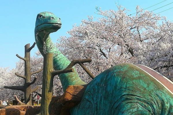 恐竜公園 桜1