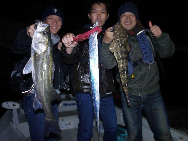 名古屋港 シーバス&タチウオ&マゴチ