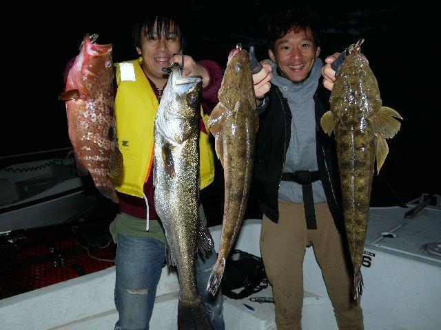 名古屋港 シーバス キジハタ マゴチ カサゴ