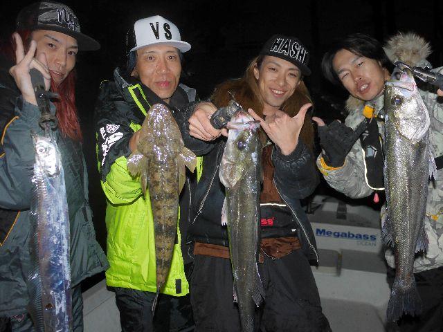 名古屋港 シーバス タチウオ マゴチ