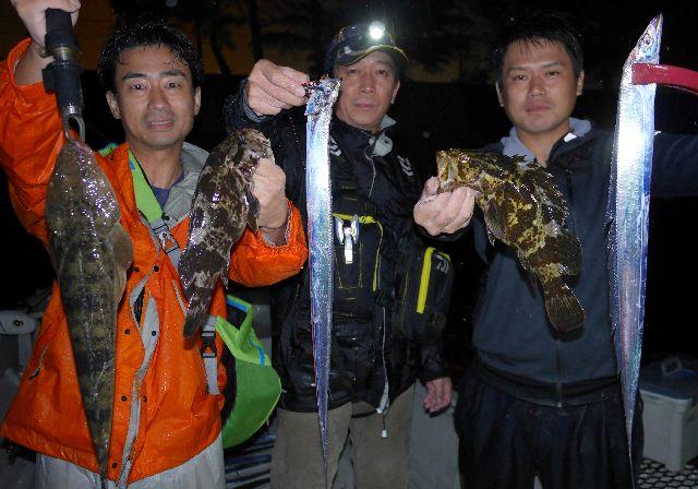 名古屋港 タチウオ&根魚