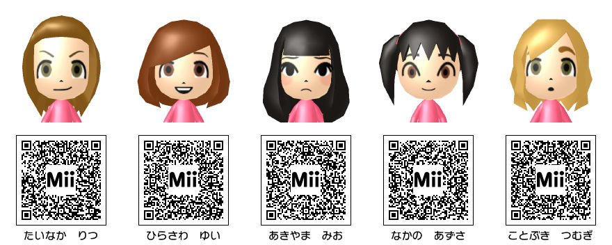 Anime Mii Characters 3ds : Tedのmii公開 けいおん!キャラ