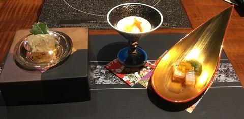 熟年夫婦竹泉荘夕食