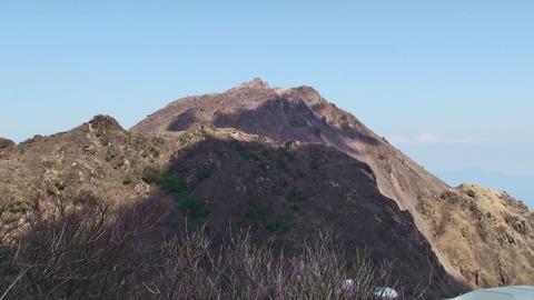 妙見山より見た普賢岳