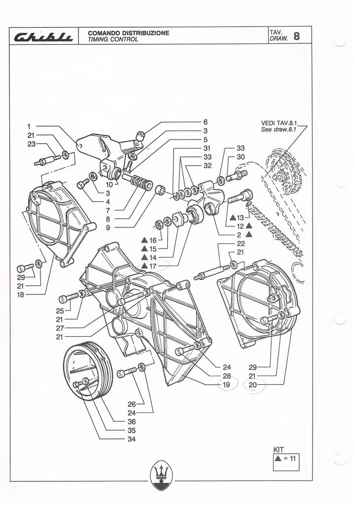Am477 Maserati Biturbo 222 4v Timing Belt Toohted Belt That