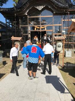 山島八幡神社からスタート