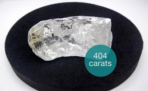 巨大ダイヤモンド404カラットアンゴラで発見