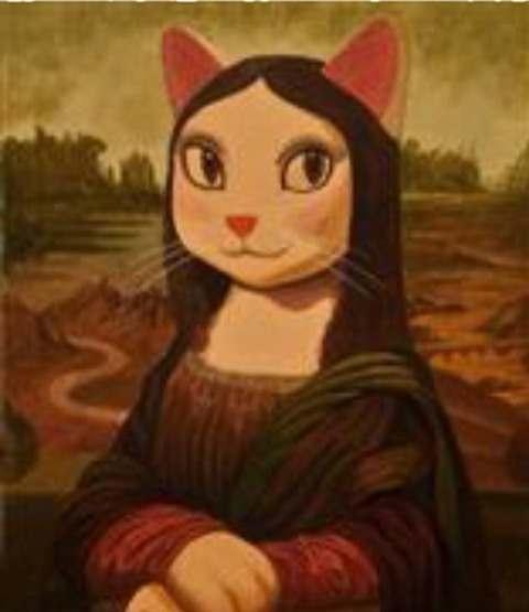 「モニャ・リザ」ニャンコが主役の世界名画展