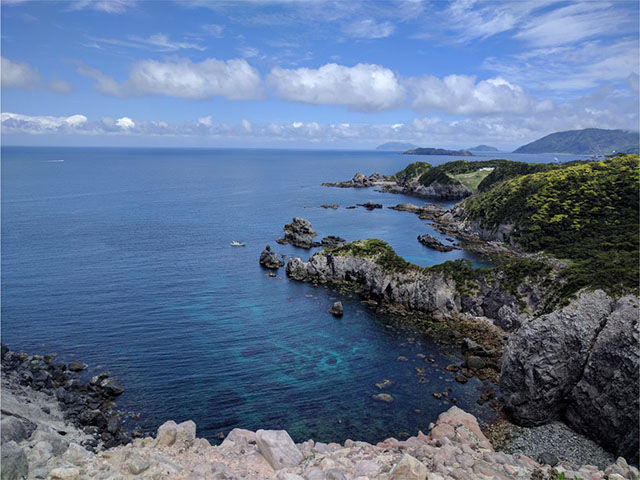 式根島神引展望台からの写真