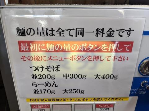 麺彩房 麺料