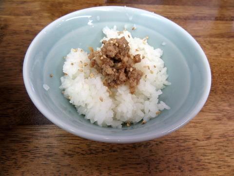 中華蕎麦丸め サービスミニご飯