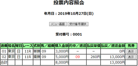 購入馬券照会_20191027