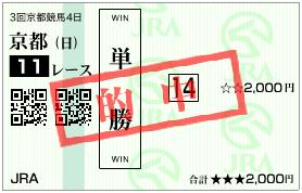 的中馬券 天皇賞(春) フィエールマン 単勝