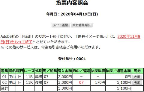 購入馬券照会_20200419