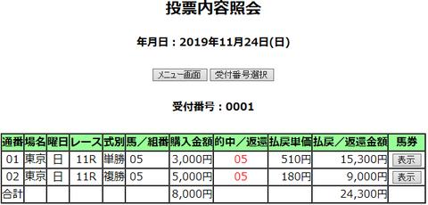 購入馬券照会_20191124
