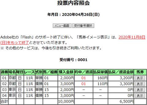 購入馬券照会_20200426