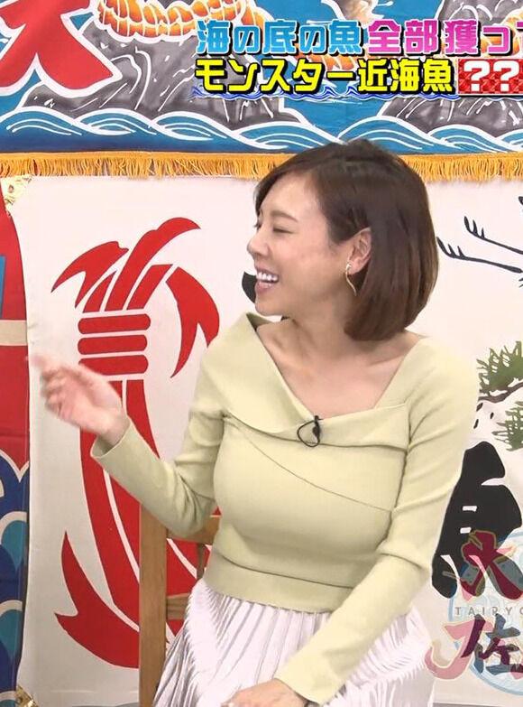 妊娠を発表した高橋真麻のTVでの着衣巨乳がさらにすごくなってる件