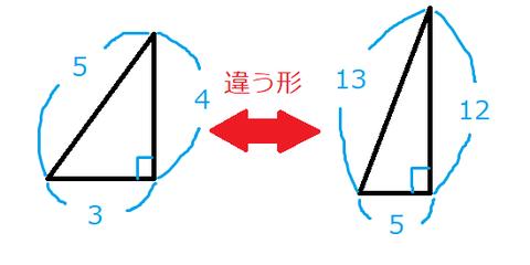 直角三角形違う形