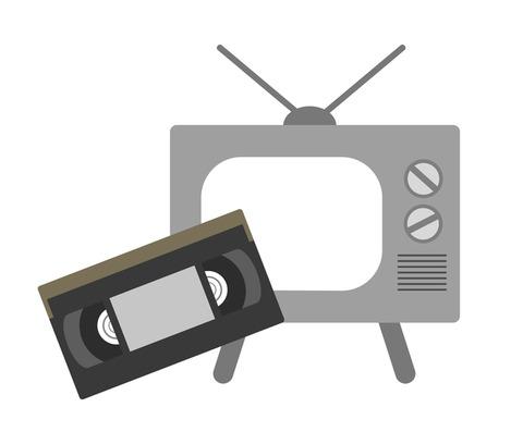 ビデオテープとテレビ